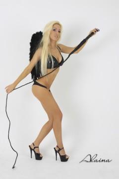 Stuttgarter Stripperin Party-Strip Black-Angel
